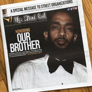 Other - Last call with Nipsey Hussle in the cover